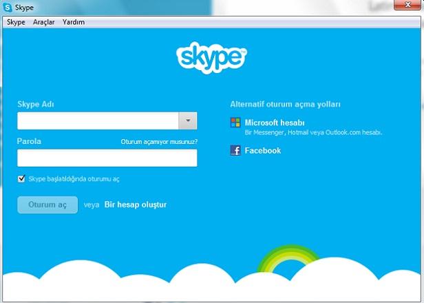 skype-oturum-acma