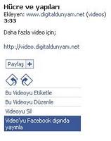 Facebook videoları başka sitede yayınla