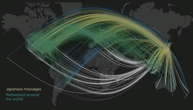 Japonya'daki depremin ardından twitter trafiği