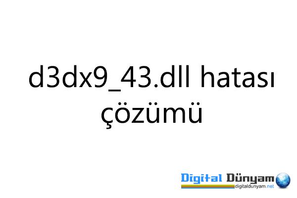 En çok karşılaşılan d3dx9 dll hatası çözümü